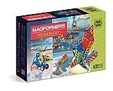 Magformers Top Builder 465 Pieces Rainbow Colors, Educational Magnetic Geometric Shapes Tiles Building STEM Toy Set Ages 3+