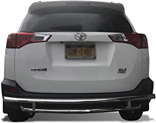 Kasei KAS-8D093945SS-DL Stainless Steel Rear Bumper Guard Double Layer Compatible with 2006-2018 Toyota RAV4