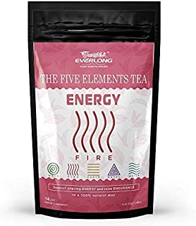 Energy Tea - Increase Physical Endurance and Performance, Improve Mental Clarity and Concentration, a Gradual and Longer Lasting Energy Source with Citrus Hibiscus Flavor - Tasty and Easy Brewing