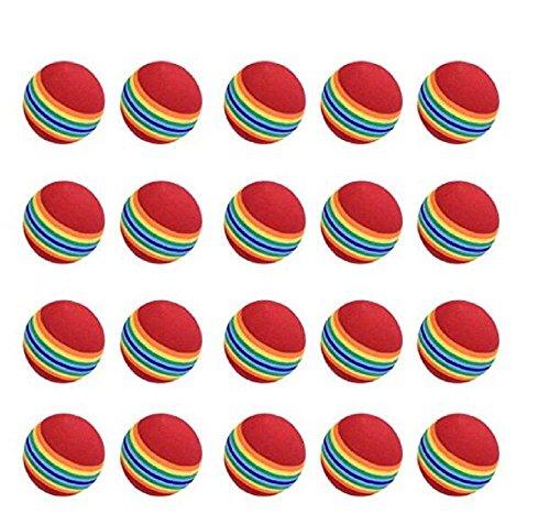 Üben Sie Golfbälle, 20pcs, Schaum, Regenbogen-Farbe, für Innen- / im Freien Golf-Praxis