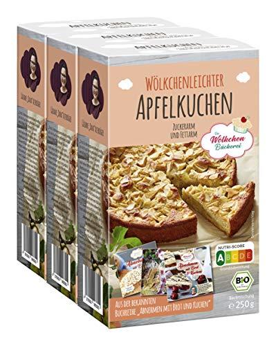 3x Apfelkuchen Bio-Backmischung - Die Wölkchenbäckerei - Nutriscore A