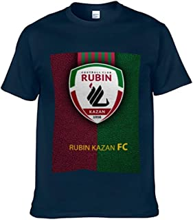 Adult Short-Sleeved T-Shirts for Men and Women Fc Rubin Kazan Soccer Casual Summer O Neck Tops Shirts Cotton Material