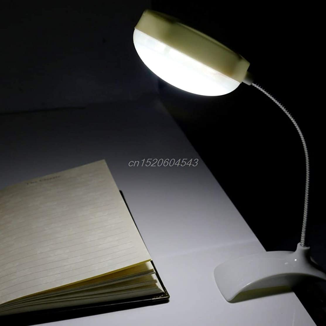 NJPOWER Flexible Clip-on Table Lamp LED Clamp Reading Study Bed Laptop Desk Bright Light New R06 Drop Ship