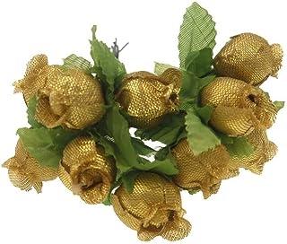 PAKUES-QO Faux Bouquet 12Pcs 2Cm Mini Soie Rose Têtes De Fleurs Fleurs Artificielles Bouquet De Mariage Décoration De La M...