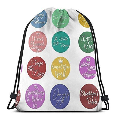 Unisex Drawstring Backpack,Newsies Songs Jugendliche Kordelzug Rucksack Tasche,Damen Herren Turnbeutel,Hipster Sportbeutel,Verstellbar Turnbeutel