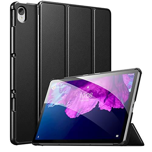MoKo Funda Compatible con Lenovo Tab P11 11' TB-J606 Tableta, Ultra Slim Ligera Función de Soporte Protectora Plegable Cover Cubierta Durable Auto Sueño/Estela, Negro