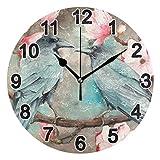 FULUHUAPIN Reloj de pared de baño para niña niño sin tictac, silencioso, fácil de leer para decoración de dormitorio 22.5 cm, reloj redondo 20301321
