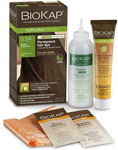 BioKap Honey Chestnut 5.34 Rapid Hair Dye 135 ml - works in just 10 mins,...