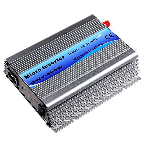 Y&H MPPT 600Wソーラーグリッドタイインバーター正弦波DC27-37V入力AC90-140V出力 50HZ / 60HZ自動【Vmp27-37Vソーラーパネル用】