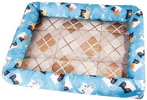 URPRU Pet Zwinger Erdbeere Katzentoilette Eisauflage EIS Seide Teddy Sommer Kühlmatte Matte Hundeauflage Dog Cooling Mat Gel Pad Bed-Medium_B