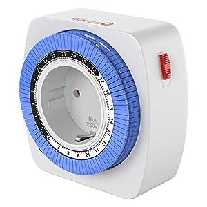 Garza 400603 Temporizador analógico mini, Blanco - Azul