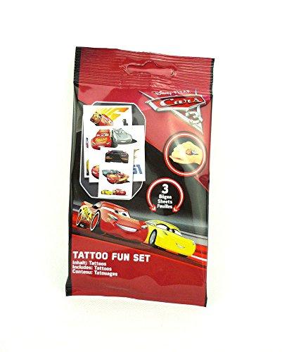 Craze Disney Cars 3 Fun Tattoo Set Kindertattoos Tattoos Kinder Klebetattoos 57644, Kindertattoo, 0, 02 X 15, 5 X 20 cm