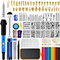 Wood Burning kit, Professional Wood Burning Tool with Soldering, DIY Creative Tools Adjustable Temperature Wood Burner Soldering Pen for Embossing/Carving/Soldering & Pyrography