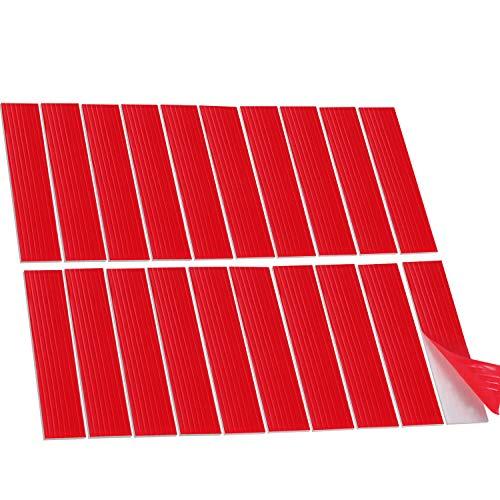 20 Packung Nummernschild Klebebänder Klebepads Doppelseitiges Schaumstoffpolster für Nummernschilder Autokennzeichen Befestigung