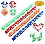 Sinwind Puzzle Magische Schlange Spielzeug, 12 Stücke 24 Blöcke Mini Schlange Würfel Magische...