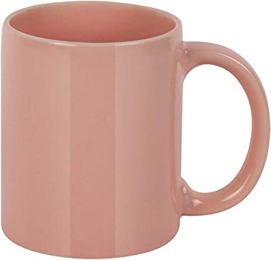 MINISO Glossy Ceramic Mug Milk Mug Tea Mug Coffee Mug 320ML,Pink