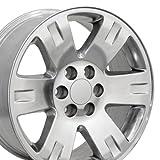 OE Wheels LLC 20 Inch Fits Chevy Silverado Tahoe GMC Sierra Yukon Cadillac Escalade CV81 Polished 20x8.5 Rim Hollander 5307
