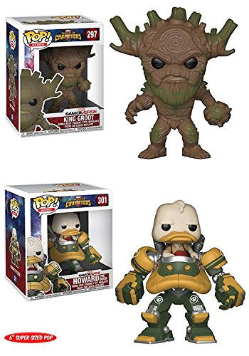 Funko POP! Marvel Contest Of Champions: King Groot + Howard The Duck