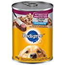 PEDIGREE CHOPPED Adult Wet Dog Food, Ground Dinner Filet Mignon, 375g Can (24 Pack)