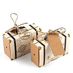 suitcase favor boxes trave themed wedding favors