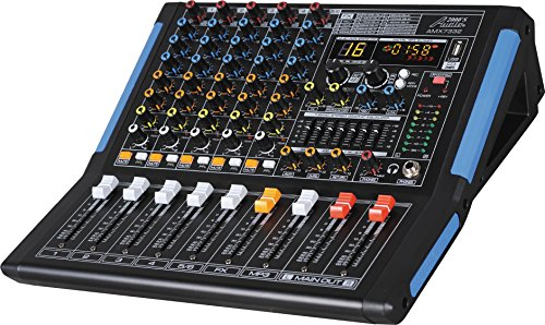 Lowest Price! Audio2000'S AMX7332-Professional Six-Channel Audio Mixer with USB Interface, Bluetooth...