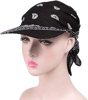 12bde26954d534 Amorar Damen Baumwolle Beanie Kopftuch Schal Bandana Hüte Retro-Stil  Sonnenhut Golf Tennis Baseball-