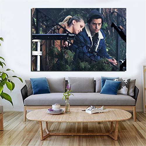 KWzEQ TV-Plakat Tapete drucken Leinwand Wohnzimmer Hauptdekoration Ölgemälde Moderne Wandkunst Poster,Rahmenlose Malerei,80x120cm