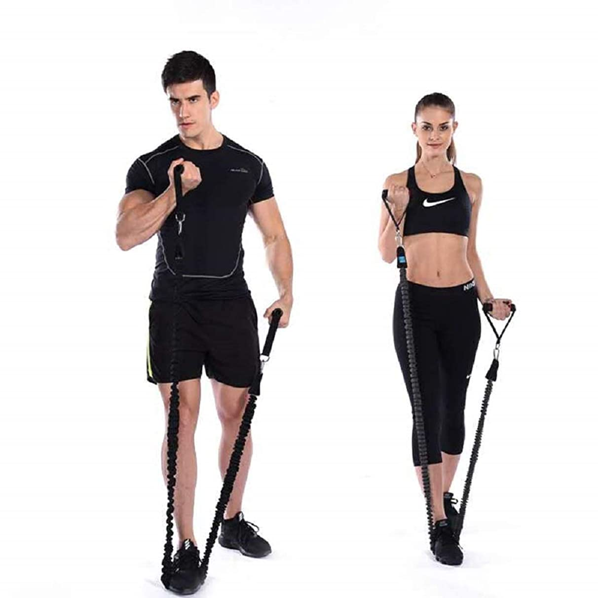 WayRun Resistance Bands, 40LB Resistance Tubes with Heavy Duty Protective Nylon Sleeves Anti-Snap for Fitness