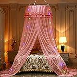 Rosa A-Express Moskitonetz Baldachin M/ückennetz Betthimmel mit einem Eingang romantischer Schutz vor Insekten Schlafzimmer Fliegennetz 2.5m H/öhe x 10m Rund