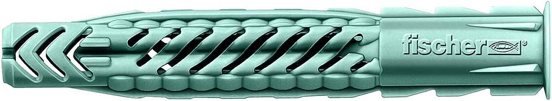 FISCHER Universele pluggen UX 6 x 50 R, doos met 100 nylon pluggen, multifunctionele pluggen met rand, voor optimale grip ...