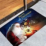 Naduew - Felpudo de Navidad (50 x 80 cm), diseño de Papá Noel