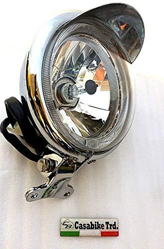 Retro Roller Scheinwerfer LED & Schirm 12V H4 Beleuchtung Motorroller Alpha