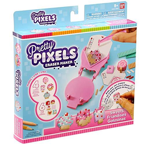 Bandai– Pretty Pixels– Krazy Pixels– Radiergummi-Fabrik– Starter-Set– Thema Süßigkeiten– Basteln– 38522