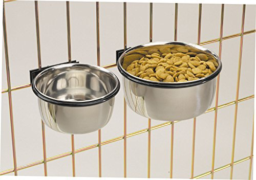 ProSelect Stainless Steel Coop Cups  Versatile Coop Cups for Pet and Animal Cages, 16-Ounce