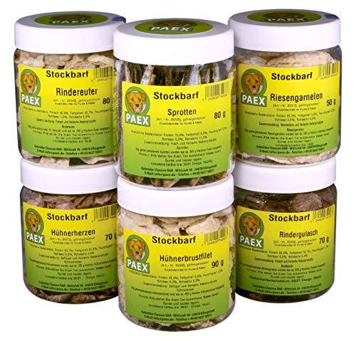 PAEX Stockbarf Auswahl, gefriergetrocknet, Hundefutter, 440 g
