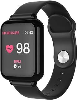 Insaneness Y77 1.3inch IP67 Waterproof Smart Watch Heart Rate Monitor Bluetooth Wristband Fitness Tracker Sport (Black)