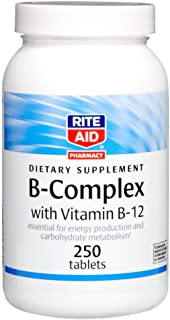 Rite Aid B-Complex Vitamins with Vitamin B-12-250 Count | Vitamin B Complex | Energy Supplement