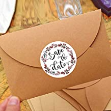 120PCS Save The Date Wedding Stickers Wedding Favor Stickers Save The Date Labels Stickers Envelope Seal Bridal Shower Stickers