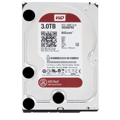 WD Red 3TB interne Festplatte SATA 6Gb/s 64MB interner Speicher (Cache) 8,9 cm (3,5 Zoll) 24x7 5400Rpm optimiert für SOHO NAS Systeme 1-8 Bay HDD Bulk WD30EFRX (Zertifiziert und Generalüberholt)