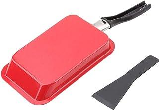 Sartenes para freír Antiadherente de acero al carbono sartén con Turner Tamagoyaki huevos rollo de fabricante de sushi Tortilla SARTENES Mini rectangular utensilios de cocina (Color : Red)