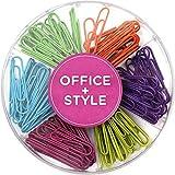 Große farbig sortierte bunte Büroklammern, verschiedene Farben, 150 Stück