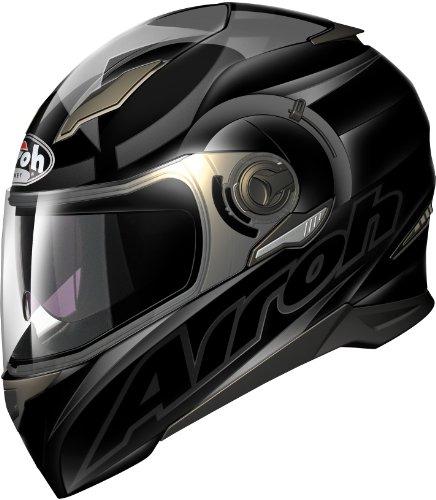 Airoh Motorrad Helm Bewegung, Schwarz (Shot Mattblack), 62-XL