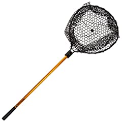 High Quality Thermal Plastic-Rubber Net with Retractable Aluminum Handle Ideal for Catch and Release, Reduces or Eliminates Tangles Wide Net Opening with Flat Bottom Basket Accepts Fish of all Sizes Dimensions: 56 inches (Full Length, Handle Fully Ex...
