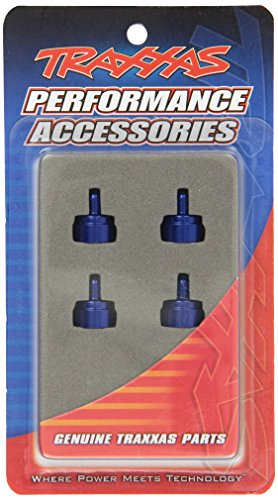 Traxxas 3767A Blue-Anodized Aluminum Shock Caps (fits Ultra Shocks) (set of four)