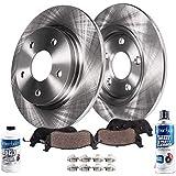Detroit Axle - Pair (2) Rear Disc Brake Kit Rotors w/Ceramic Pads w/Hardware & Brake Kit Cleaner & Fluid for 2002 2003 2004 2005 2006 Toyota Camry - [2005-2007 Avalon] - 2004-2008 Solara