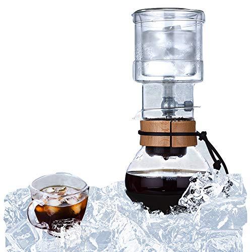 IJsdruppelkoffiemachine Verstelbaar IJsdruppelglas 2 Persoon IJsdruppelpot voor Koude Koffie En Thee