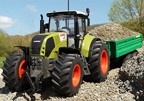 WIM-SHOP RC Traktor CLAAS Axion 870 Anhänger in XL Länge 72cm Ferngesteuert*