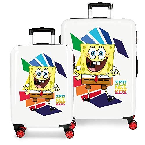 Bob Esponja Hello Bob Juego de maletas Multicolor 55/68 cms Rígida ABS...