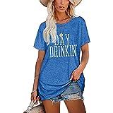Mayntop Camiseta para mujer de verano con estampado de palabras,...