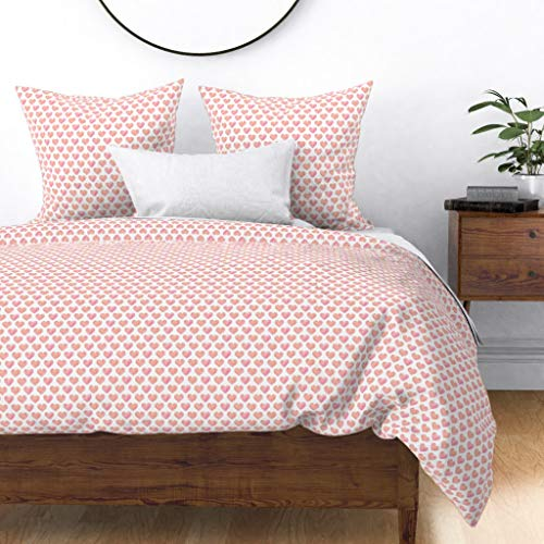 Great Features Of Roostery Duvet Cover, Watercolor Geometric Shapes Kids Hearts Love Girls Print, 10...